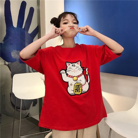 Cute Lucky Cat T-shirt