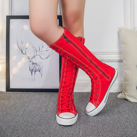 Side Zipper Knee High Sneaker