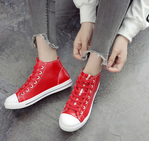 Lace Up Casual High Top Shoes