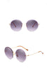 Irregular Round Sunglasses