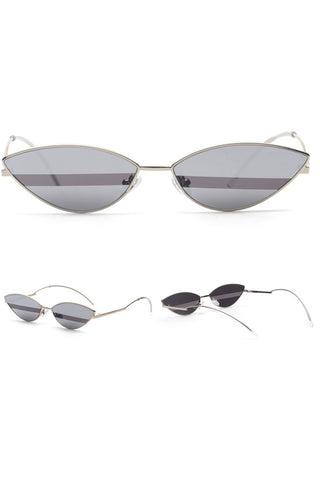Bicolor Cat-eye Retro Sunglasses