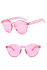 Candy Color Rimless Sunglasses