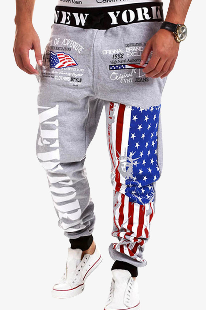 American Flag Printed Sweatpants