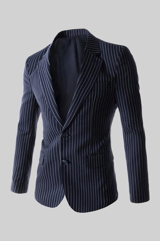 Two Buttons Suit Jacket In Navy