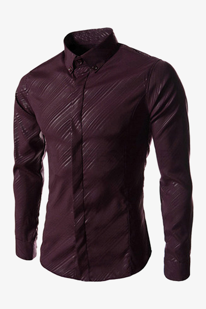 Long Sleeve Shirt In Burgundy