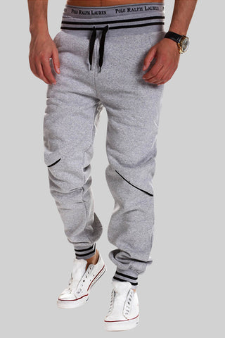 Elastic Waist Sweatpants In Grey
