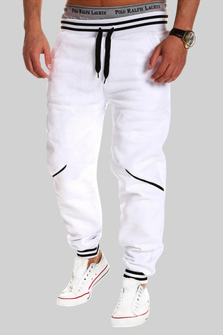 Elastic Waist Sweatpants In White