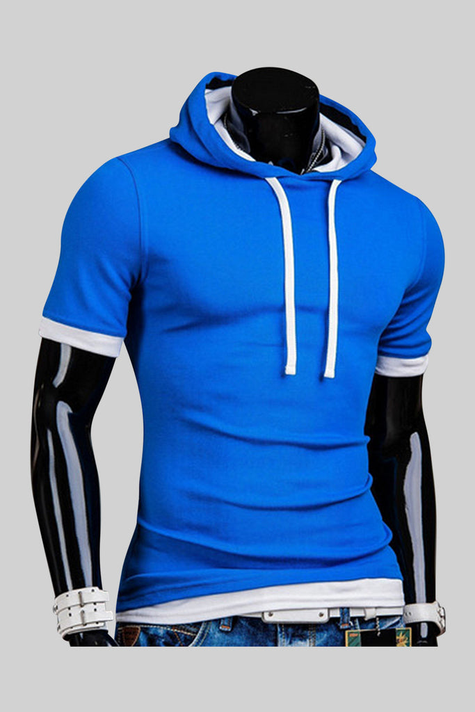 Slim Fit Hoodie In Sky Blue