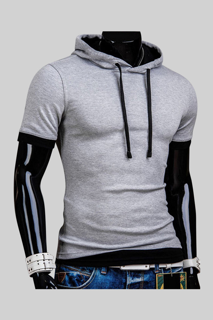 Slim Fit Hoodie In Gray