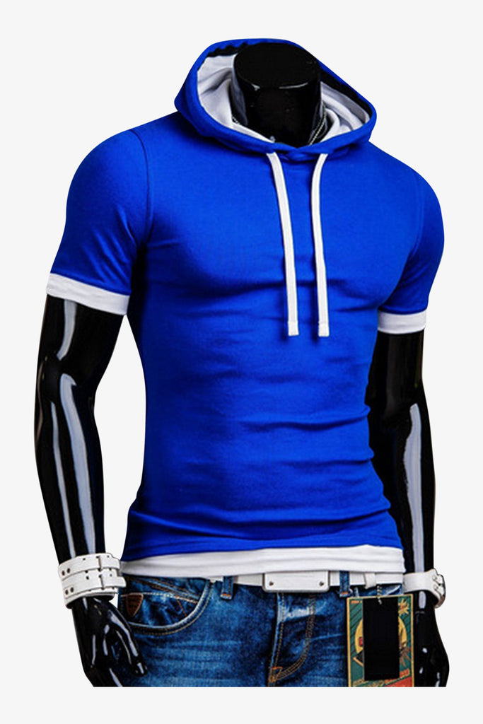 Slim Fit Hoodie In Blue