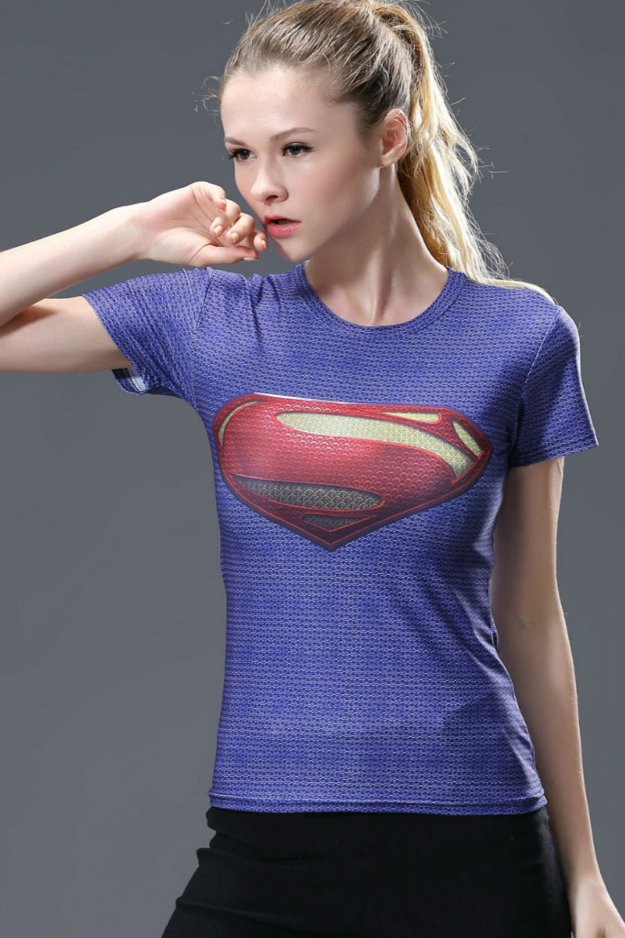 Superman Women Compression Tee