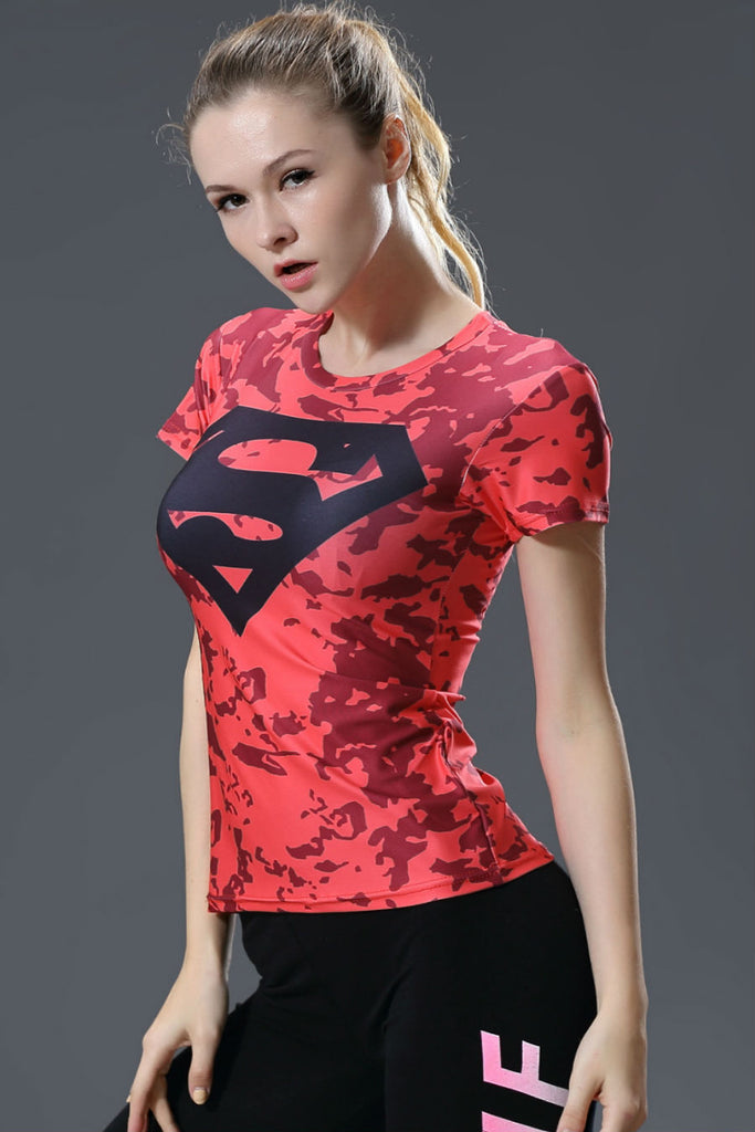 Red Superman Compression Tee