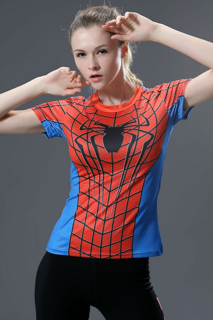 Spiderman Compression Women Tee