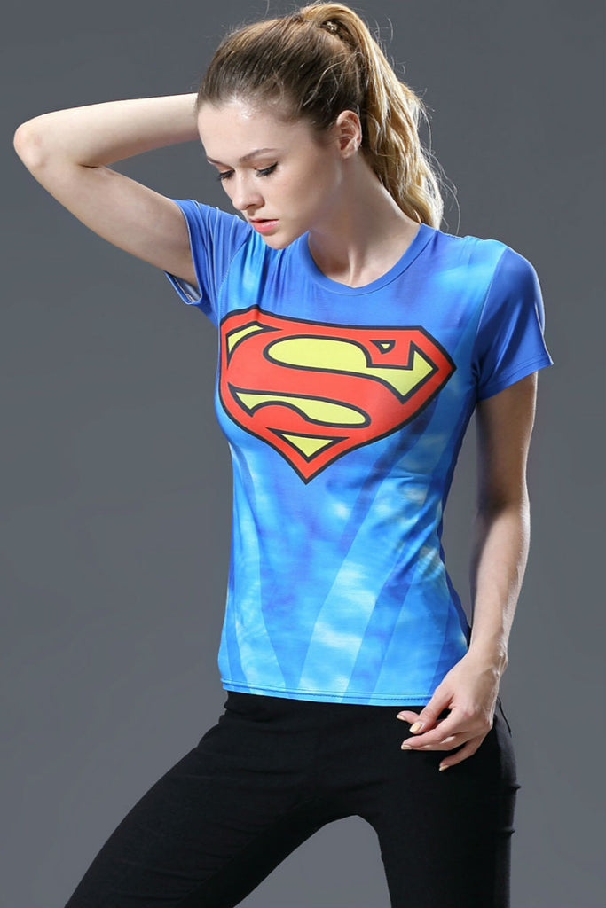 Blue Superman Women Tee