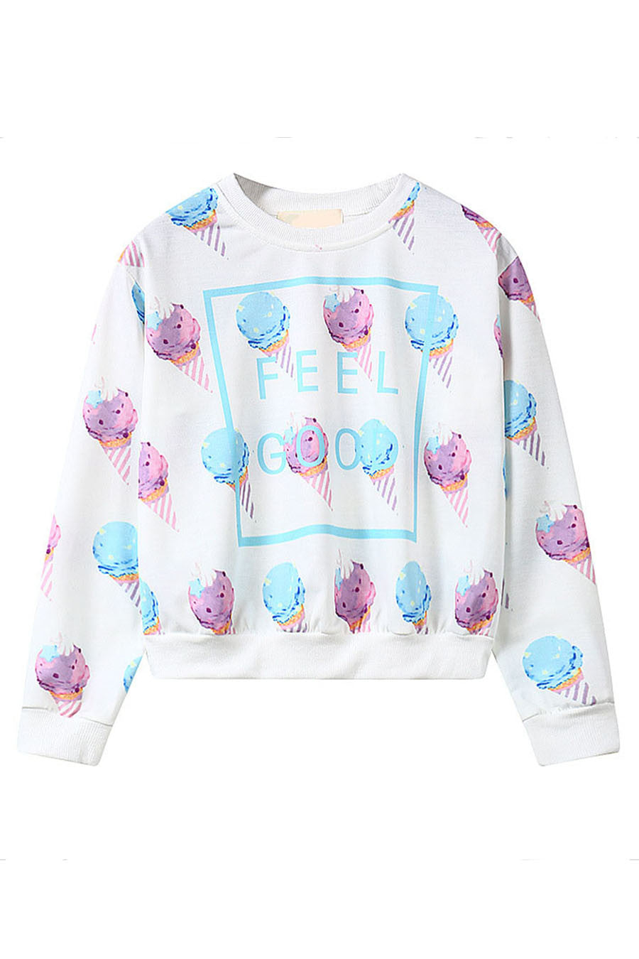 Cute Ice Cream Printed Sweater