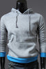 Grey And Blue Spliced Hoodie