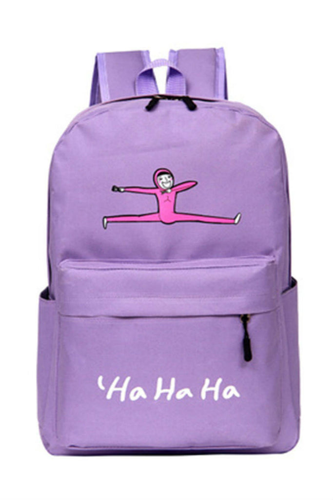 Cute Purple Canvas Backpack