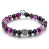 Amethyst paw pet protection charm bracelet