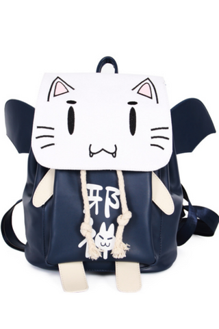 Ao no Kanata no Four Rhythm Anime Cat Backpack