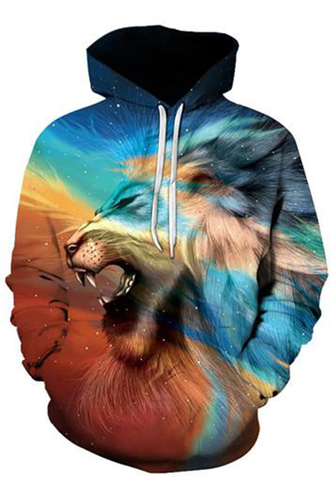 Lion 3D Hooded Sweater