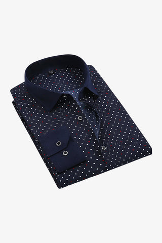 Double Tone Polka Dots Shirt
