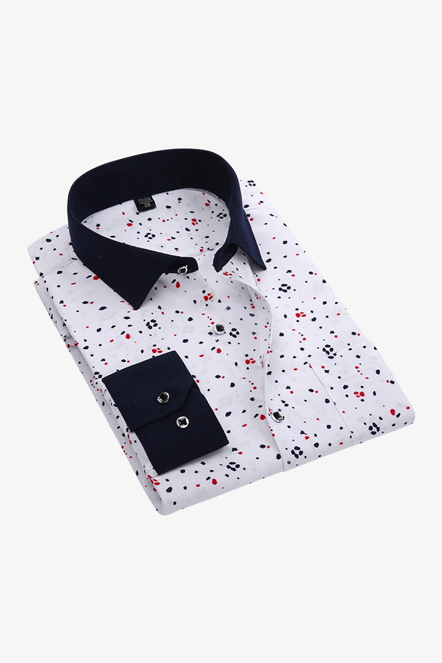 Colorful Dots Shirt In White