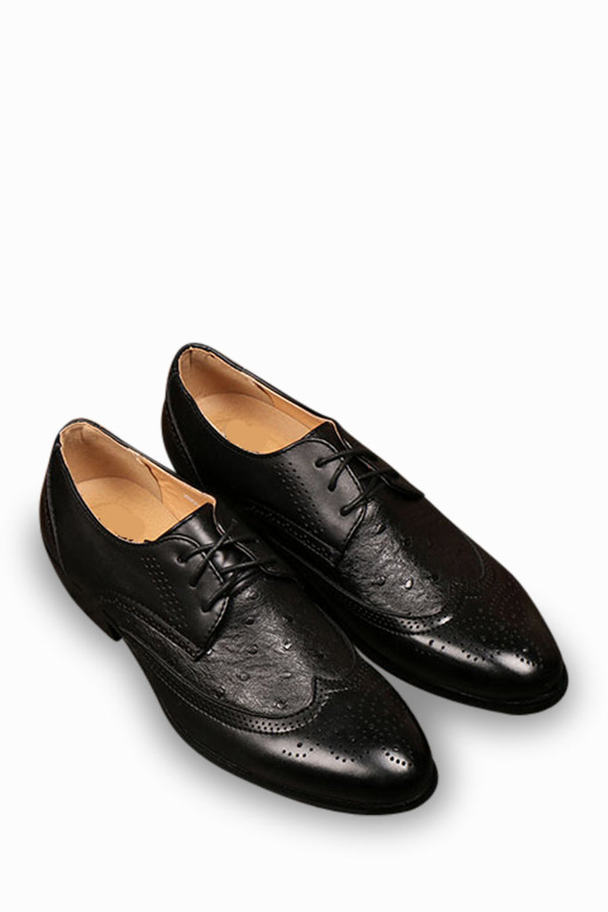 Brogue Casual Classical Shoes In Black