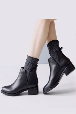 Black Zippered Booties