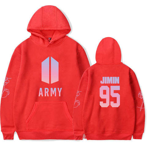 BTS Army Jimin Blue  Bangtan Boys Hooded Sweater Sudadera Felpa