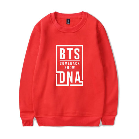 BTS BT21 KPOP DNA Love Yourself Hoodie Crewneck Pink K-Pop Sweater Sweatshirt Felpa Sudadera Jupe Camisa Camiseta Tee Tshirt T-shirt