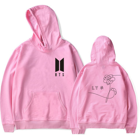 BTS BT21 KPOP Love Yourself Hoodie Hooded Sweater White KPop Sweatshirt Felpa Sudadera Jupe Camisa Camiseta Tee Tshirt T-shirt
