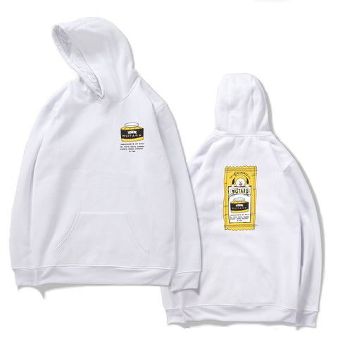 BT21 Mustard K-Pop Hooded White Sweater Sweatshirt