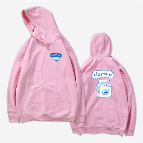 BTS BT21 No Milk Pink K-Pop Hooded Sweater