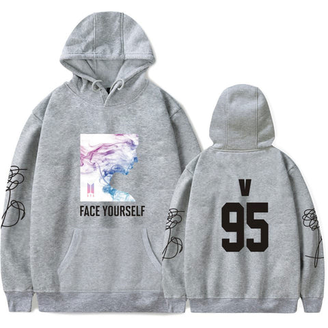 BTS Face Yourself V White Hooded Sweater