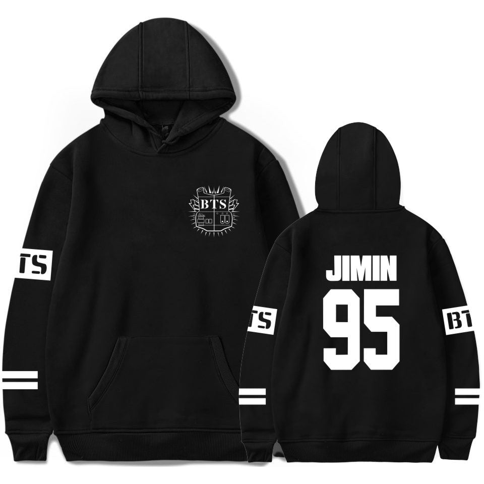 BTS K-Pop Black Jimin Hoodie Hooded Sweater Sweatshirt