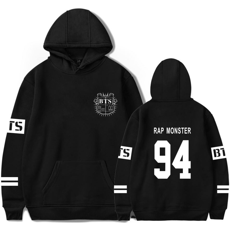 BTS Rap Monster Black K-Pop Hoodie Hooded Sweater
