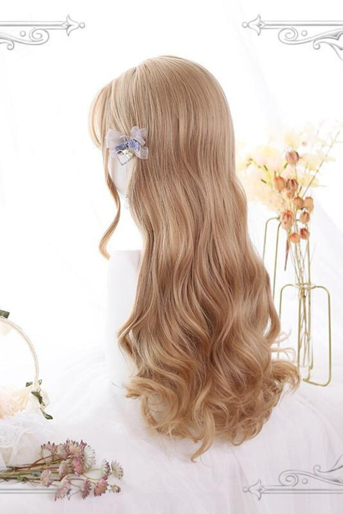 Long Curly Blond Cosplay Wig
