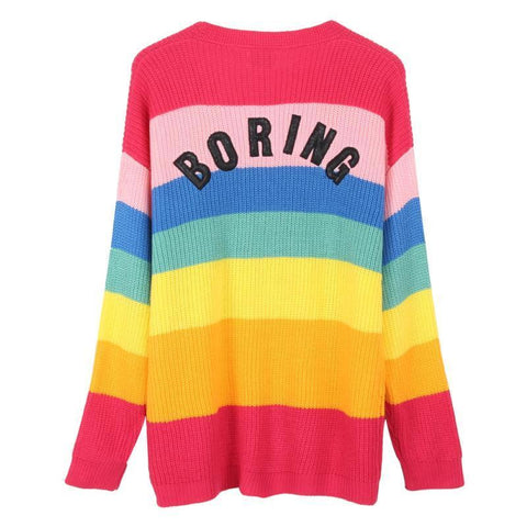 Aesthetic Rainbow Cardigan