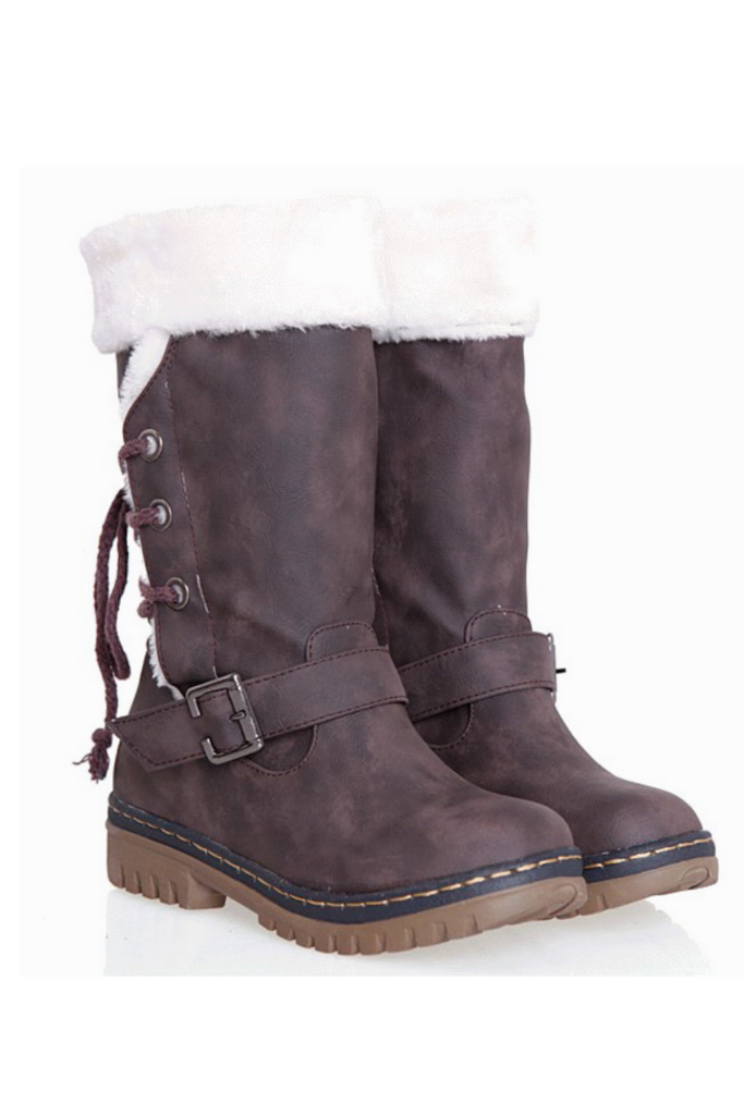 Fashion Fluffy Snow Boots In Brown