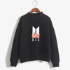 BTS K-POP CUTE FLORAL BLACK SWEATSHIRT