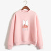 BTS K-POP CUTE FLORAL PINK SWEATSHIRT