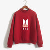 BTS K-POP CUTE FLORAL RED SWEATSHIRT