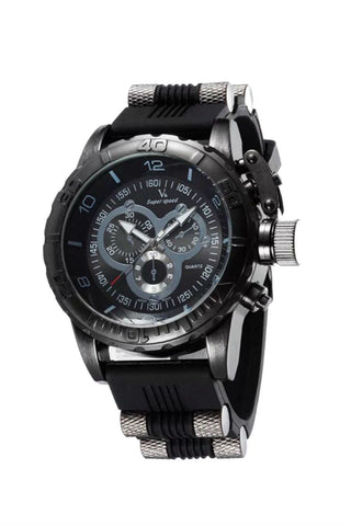 Chronograph Rubber Band Watch