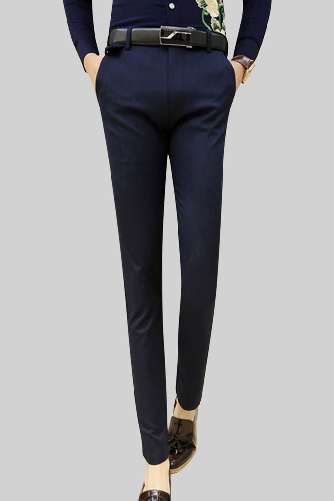Slim Fit Pants In Navy