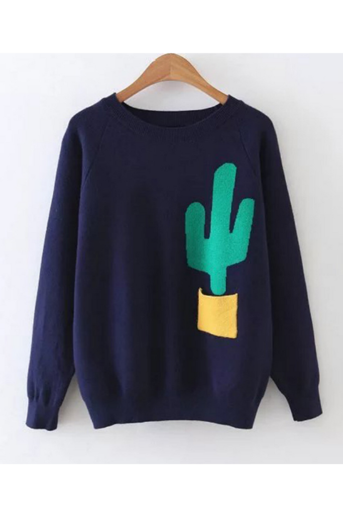 Cactus Knit Sweater