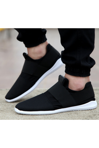 Black Casual Slip-On Sneakers