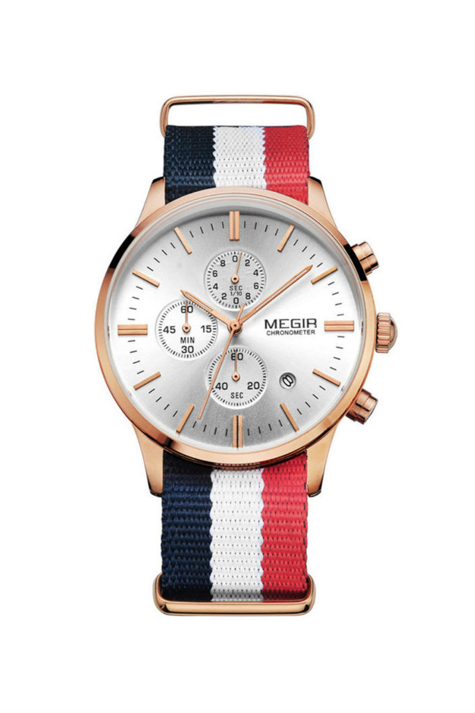 Classic Stripe Nylon Band Watch