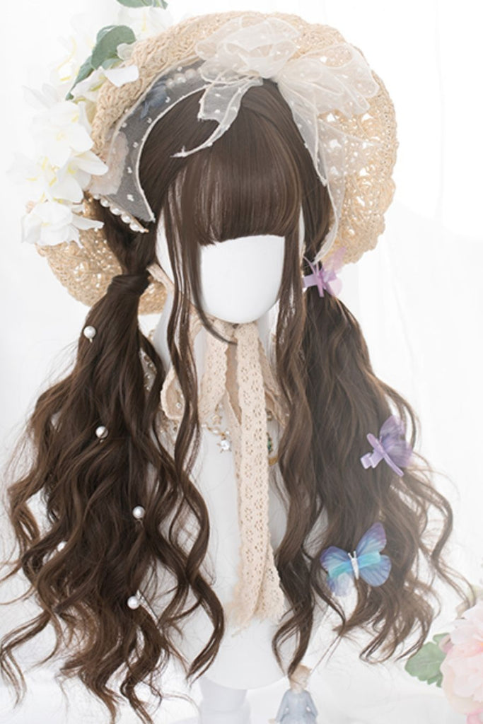 Brown Curly Long Cosplay Wig