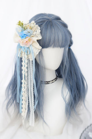 Cosplay Blue Straight Wig