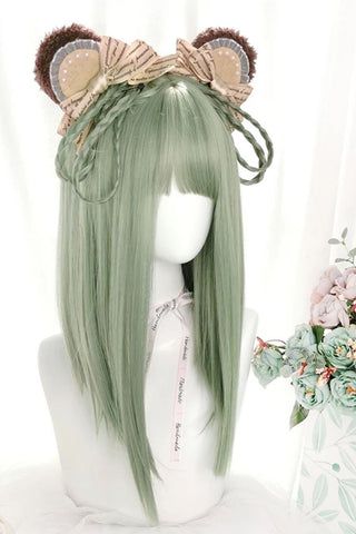 Green Straight Cosplay Wig